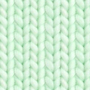 Knitted stockinette - pale green solid