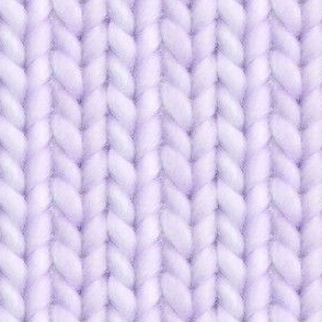 Knitted stockinette - pale purple solid