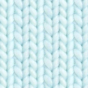 Knitted stockinette - pale turquoise solid