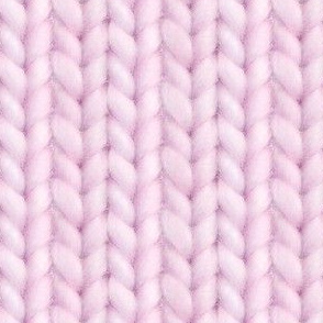 Knitted stockinette - pale vermillion solid