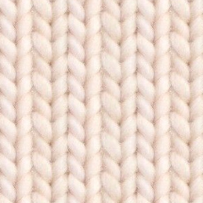 Knitted stockinette - pale apricot solid
