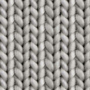 Knitted stockinette - graphite solid