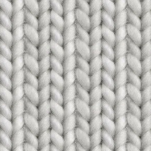 Knitted stockinette - medium gray solid