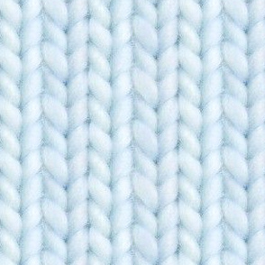 Knitted stockinette - pale blue solid