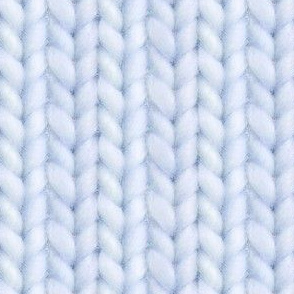 Knitted stockinette - pale denim solid