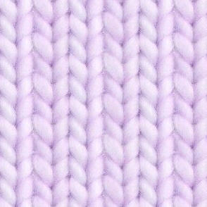 Knitted stockinette - pale eggplant solid