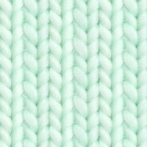 Knitted stockinette - pale emerald solid