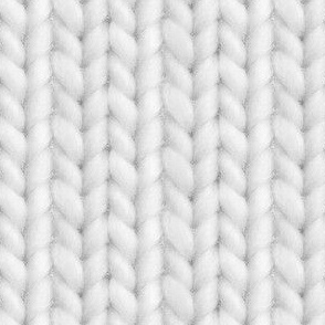 Knitted stockinette - pale gray solid