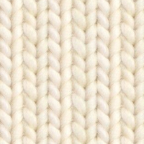 Knitted stockinette - cream solid