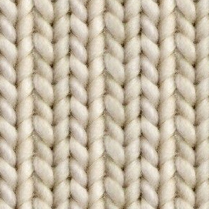 Knitted stockinette - pale brown solid