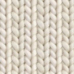Knitted stockinette - medium ecru solid