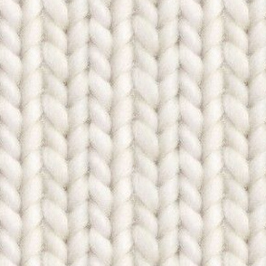 Knitted stockinette - pale ecru solid