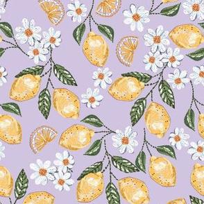 Lemond and Daisy stitch embroidery_Lilac