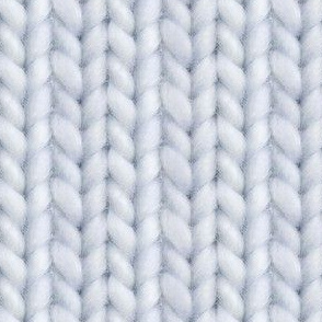 Knitted stockinette - pale blue gray solid
