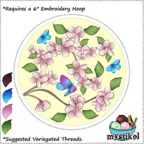 Blossom Embroidery 6 inch hoop