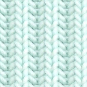 Knitted brioche - pale aqua solid
