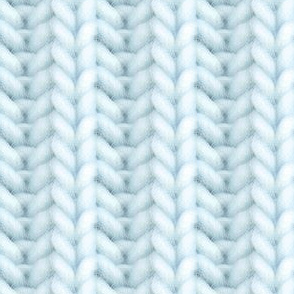 Knitted brioche - pale blue solid