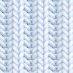 Knitted brioche - pale denim solid