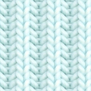 Knitted brioche - pale turquoise solid