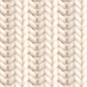 Knitted brioche - cream solid