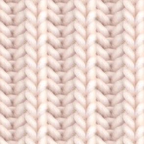Knitted brioche - pale apricot solid