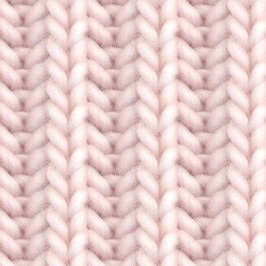 Knitted brioche - pale dusty rose solid