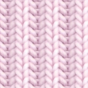 Knitted brioche - pale pink solid