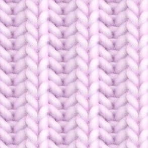Knitted brioche - pale vermillion solid