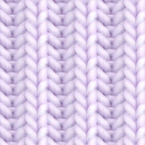 Knitted brioche - pale eggplant solid