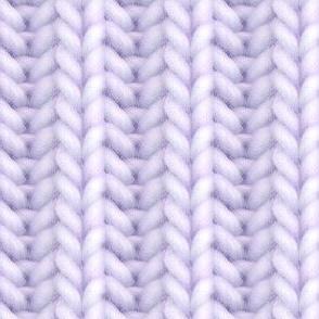Knitted brioche - pale purple solid
