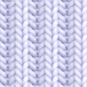 Knitted brioche - pale violet solid