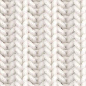Knitted brioche - pale ecru solid