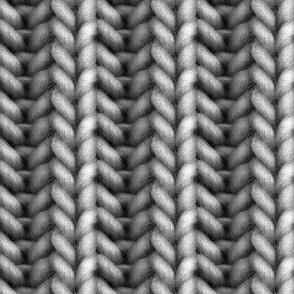 Knitted brioche - graphite solid