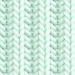 Knitted brioche - pale emerald solid