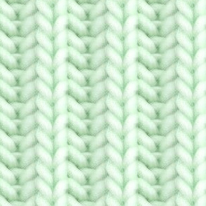 Knitted brioche - pale green solid