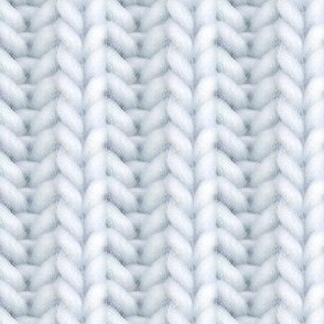 Knitted brioche - pale blue gray solid