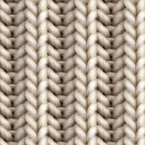 Knitted brioche - pale brown solid