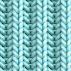 Knitted brioche - turquoise solid