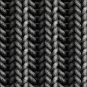 Knitted brioche - dark graphite solid