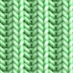 Knitted brioche - green solid