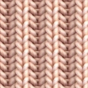 Knitted brioche - apricot solid