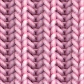 Knitted brioche - pink solid