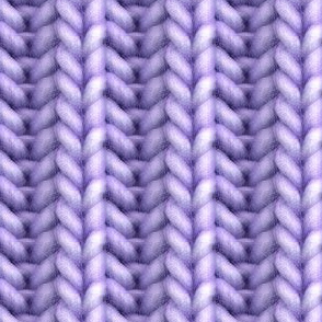 Knitted brioche - purple solid