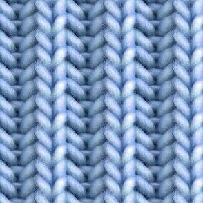 Knitted brioche - denim solid