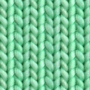 Knitted stockinette - green solid