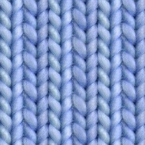 Knitted stockinette - denim solid