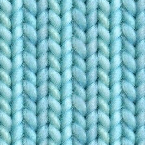 Knitted stockinette - turquoise solid
