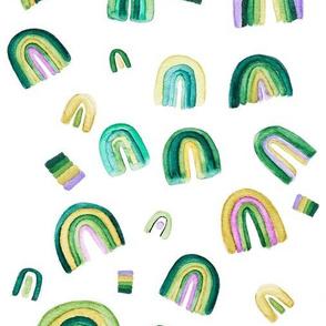 Fluorite Watercolor Rainbows