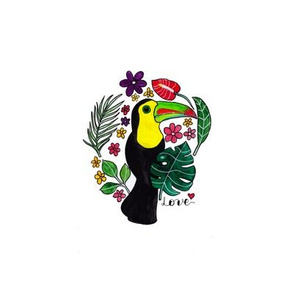 Toucan in the wild - Embroidery-Template_