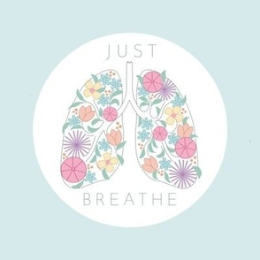 """Just Breathe - Embroidery template - 6x6"""""""